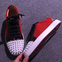 Christian Louboutin CL Low Style #2064 Sneakers Fashion Shoes Best Deal Online