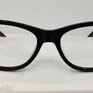 NEW AUTHENTIC PATRICK COX 9OPC020-1 COL BLACK PLASTIC EYEGLASSES FRAME CAT EYE