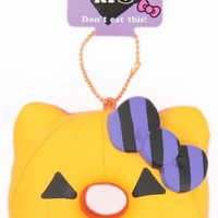 orange-yellow icing Halloween pumpkin Hello Kitty donut squishy charm - Hello Kitty Squishy - Squishies