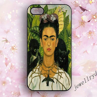 Artist Frida Kahlo iPhone 4/4s case,iPhone 5/5s/5c case,Galaxy S3/S4/s5 case,frida kahlo Self Portrait iphone case,cell iphone Accessories