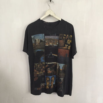 Pink Floyd shirt 1994 vintage t shirt band t-shirts rock t shirts album art tshirt 90s grunge clothing rock tees tour t-shirt black large