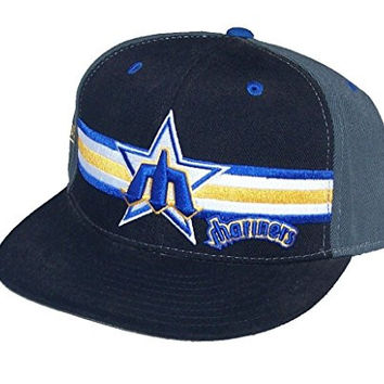 Mitchell & Ness Seattle Mariners Fitted Size 7 1/2 Navy Blue Classic Throwback Hat Cap