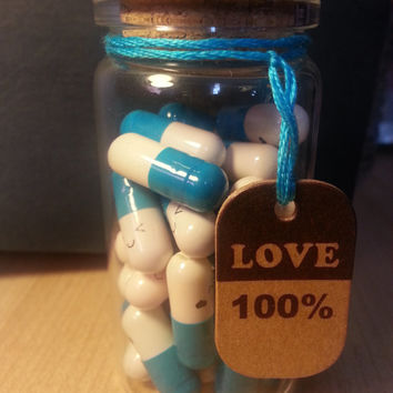 love pills happy capsules kawaii message wishing pills in a bottle wedding favor birthday gift anniversary gift valentines gift