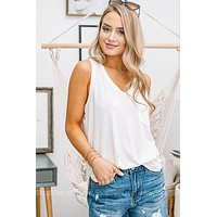 The Bare Necessities Pocket Tank | White