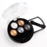UBUB brand colored bright stereo bright colorful eye shadow palette eyeshadow with brush 5in1 set Professional Make Up Cream