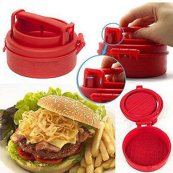 Stuffed Hamburger Patty Mold Maker Burger Meat Grinder BBQ Grill Press Machine