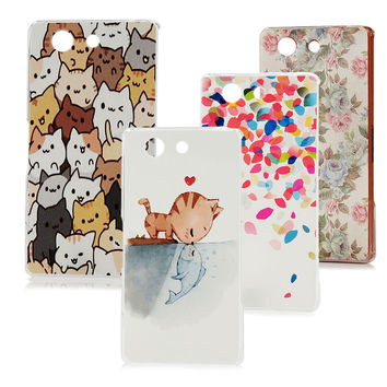 For Sony Xperia Z3 Compact Phone Case Ultra Thin Hard Plastic Fashion Painting Protective Skin Back Cover Free Shipping