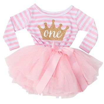 Winter Long Sleeve Girl Dress Little Baby Birthday Outfits Infant Kids Party Wear Clothing Toddler Girl Tutu Frocks