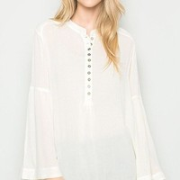 Midnight Bohemian Blouse - Ivory