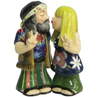 Westland Giftware Mwah Magnetic Hippie Couple Salt and Pepper Shaker Set, 3-3/4-Inch