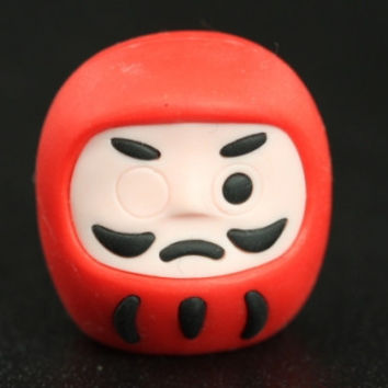 Red Daruma Japanese Eraser
