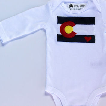Colorado Flag Shirt, Baby Colorado Bodysuit, I Love Colorado Shirt