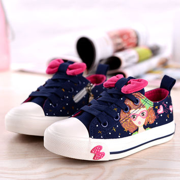 Girls Kids Canvas Shoes Children Gift
