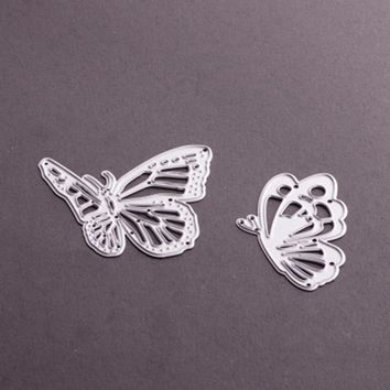 2pcs/set butterfly Shape New Hot Stencil Metal Cutting Knives Cutting Dies Practice DIY Scrapbooking Album Craft dies