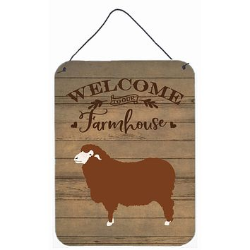 Merino Sheep Welcome Wall or Door Hanging Prints CK6925DS1216