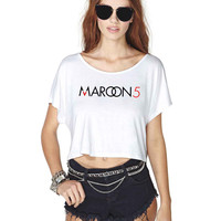 Maroon 5 457 Crop Shirt , Custom Crop Shirt , Woman Crop Shirt