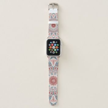 Striking Modern Kaleidoscope Mandala Fractal Art Apple Watch Band