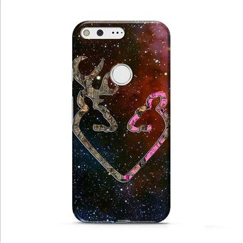 BROWNING STYLE HEART BUCK DOE DEER STICKER DECAL DUCK HUNTING Google Pixel XL 2 Case
