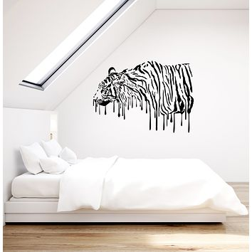 Vinyl Wall Decal Tiger Art Tribal Predator Home Room Decoration Stickers Mural (ig6040)