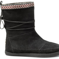 Black Suede Trim Women's Nepal Boots US