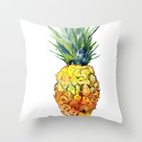 Pinapple Throw Pillow by SurenArt