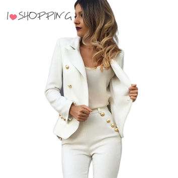 Chic Double Breasted Suit Women Casual Blazer High Fashion Sexy Jacket Basic veste femme jaqueta feminina cape blazer feminino