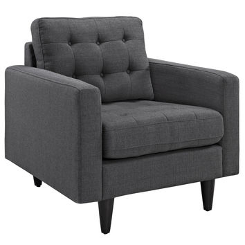 Empress Upholstered Armchair Gray