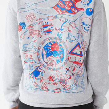 Scott Young X UO Astrology Hoodie Sweatshirt | Urban Outfitters