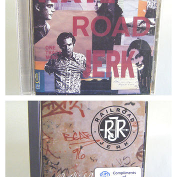 Railroad Jerk Two CD set The Third Rail and One Track Mind Vintage Used Music Indie Alternative Rock