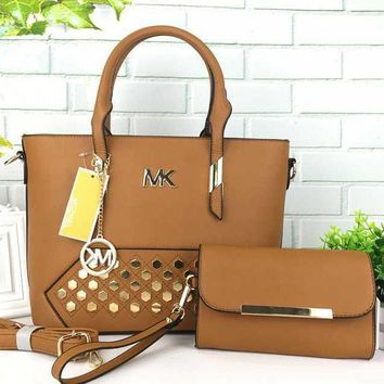 Mk Women Shopping Bag Leather Tote Handbag Shoulder Bag 17