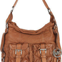 MICHAEL Michael Kors|Princeton washed-leather shoulder bag|NET-A-PORTER.COM