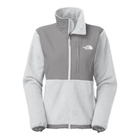 The North Face Women's Denali Jacket Grey Heather/Pache Grey/TNF White