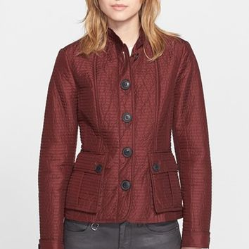 Women's Burberry Brit 'Tiggsmoore' Quilted Stand Collar Jacket
