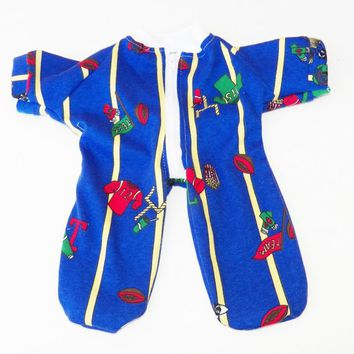 Cabbage Patch KIDS 16 inch Doll Clothes Pajamas 'Liam Loves Football' handmade …