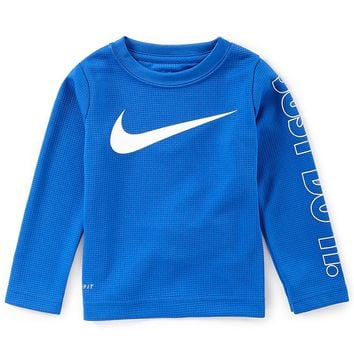 Nike Little Boys 2T-7 Swoosh Just Do It Dri-FIT Thermal Tee | Dillards