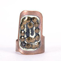 Long handmade copper ring beautiful stylish fine jewelry fashionable accessories