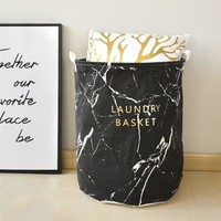 Marble fabric storage basket