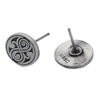 Doctor Who Seal of Rassilon Casted Stud Earrings - Body Vibe - Doctor Who - Jewelry at Entertainment Earth