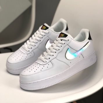 """""""Nike Air Force 1"""" Unisex Casual Fashion Chameleon Low Help Plate Shoes Couple All-match Sneakers"""
