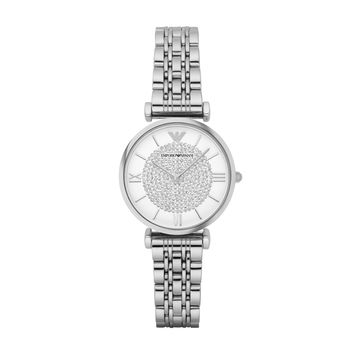 ARMANI WATCH SIGNATURE WOMEN RETRO STAINLESS STEEL GIANNI T-BAR STAINLESS STEEL AR1925