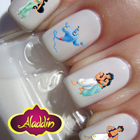 Aladdin Jasmine Genie Nail WaterSlide Transfer 20 images Decal Art Nail