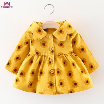Baby Toddler Girls Autumn Winter Hooded Coat Cloak Jacket Thick Warm Clothes Windbreaker For Girls Full Sleeve Toddler Outerwear
