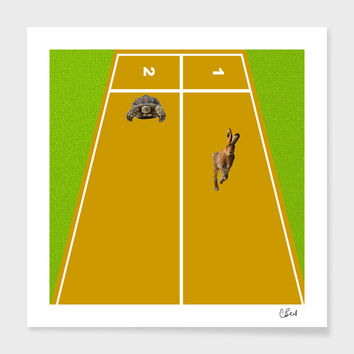 «Hare and Tortoise» Art Print by Casey Bell - Exclusive Edition from $24.9 | Curioos