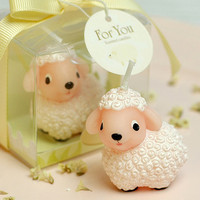 Handmade Candle: Cute Little Sheep Animal Shaped Handmade Scented Candle with Box, Baby Shower/ Kids Birthday/ Party/ Wedding/ Cake Topper