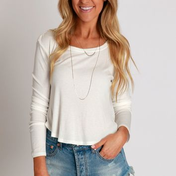 Back To The Basics Top White