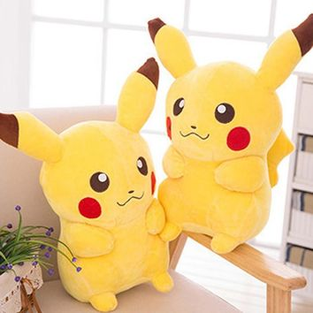 30cm Picacho Pikachu Cushion Toy Doll Plush Pokemon Cartoon Soft Kids Gift Cartoon Plush Pillow Laugh Cute Yellow Cushions