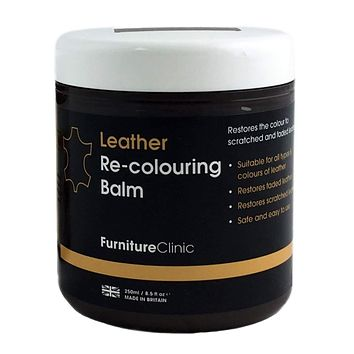 FURNITURE CLINIC – Renew and Restore Color to Faded and Scratched Leather | 15 Colors Available - 8.5 Fl. Oz. (250ml)