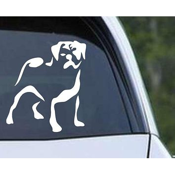 Pug Outline Die Cut Vinyl Decal Sticker