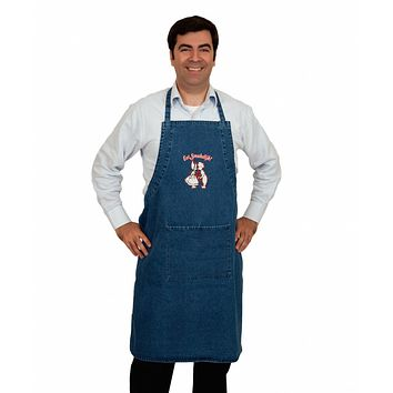 Embroidered Eet Smakelijk! Denim Apron