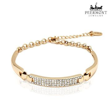 Peermont 18-Karat Gold-Plated Block Bracelet Made with Swarovski Elements